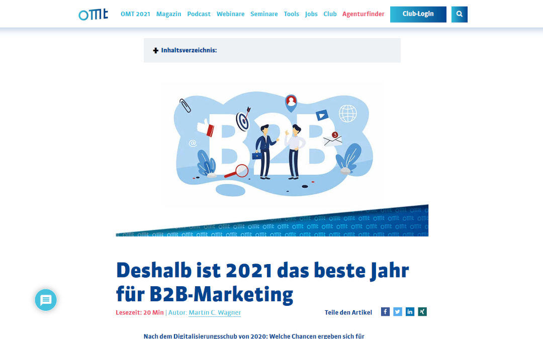 OMT-Magazin Gastbeitrag B2B-Marketing